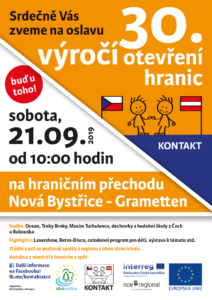 Kontakt - výročí otevření hranic